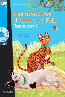 خرید کتاب فرانسه Albert et Folio : Tous au parc + CD audio (A1)
