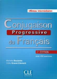 خرید کتاب فرانسه Conjugaison progressive - Niveau intermediaire + CD 2eme edition
