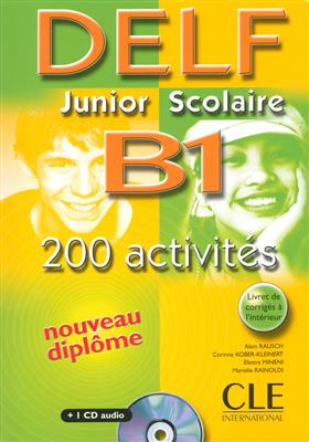 خرید کتاب فرانسه Delf Junior Scolaire B1: 200 Activites + CD