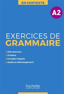 خرید کتاب فرانسه En Contexte - Exercices de grammaire A2 + CD + corrigés