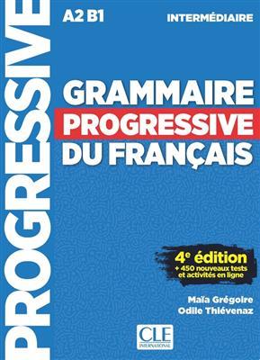خرید کتاب فرانسه Grammaire progressive - N intermediaire - 4eme + CD