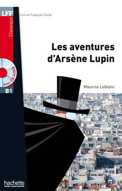 خرید کتاب فرانسه Les Aventures d'Arsene Lupin + CD audio MP3 (B1)