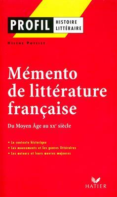 خرید کتاب فرانسه Profil - Memento de la littérature française